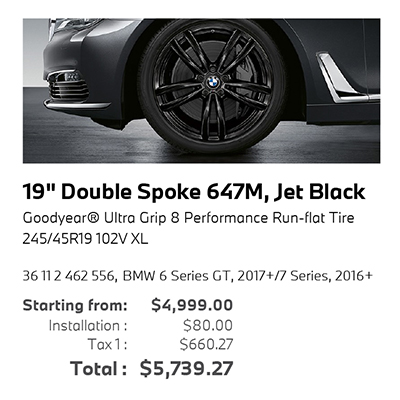 19″ Double Spoke 647M, Jet Black